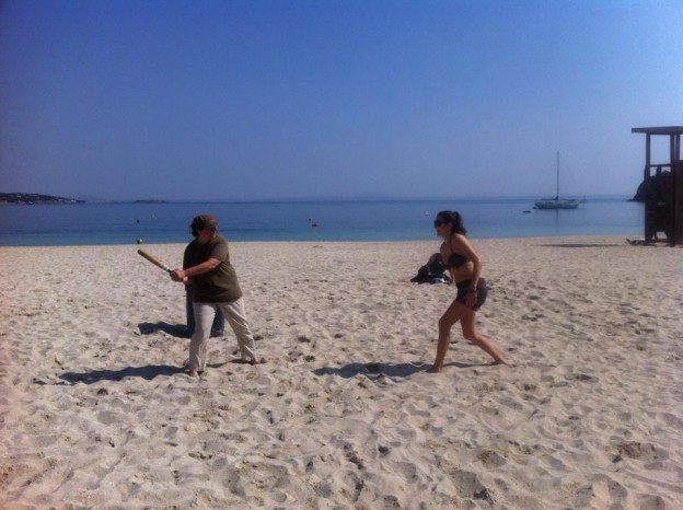 Rounders on the beach